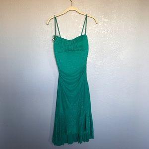 EUC Ruby Roxy Emerald Green Sparkle Dress sz L